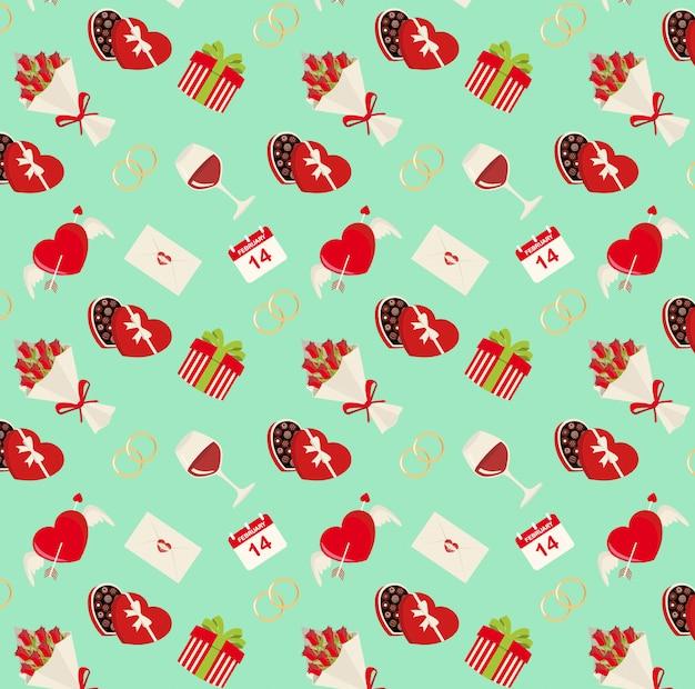 Saint valentine's pattern