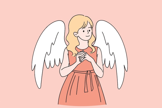 Saint valentines day card concept