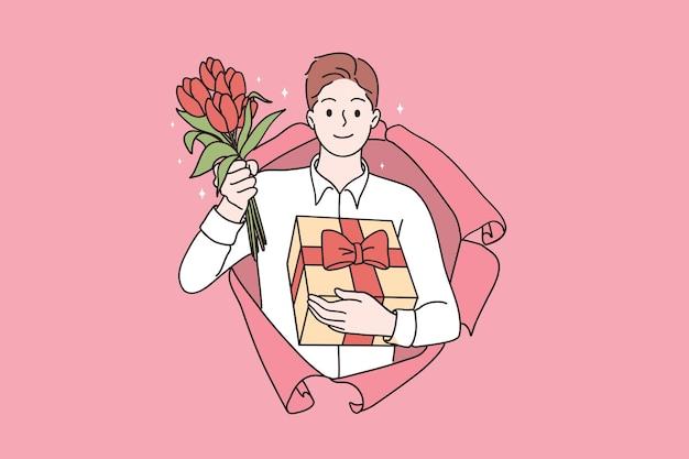 Saint valentines day celebration concept
