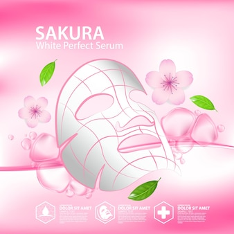 Sakura collagen solution natural skin care cosmetic