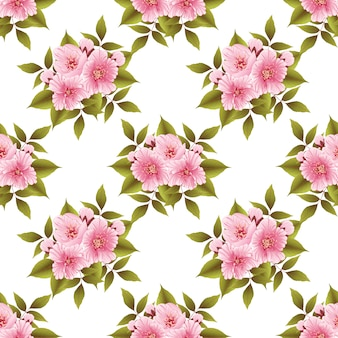 Sakura flower seamless pattern