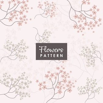Sakura flowers and branch background