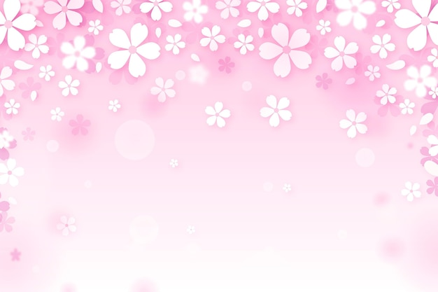 Sakura gradient background