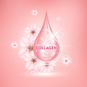 Sakura whitening serum for skin care drop cherry blossom vitamin and collagen