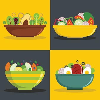 Salad bowl backgrounds