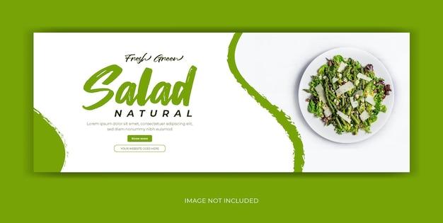 Salad food restaurant social media facebook cover banner