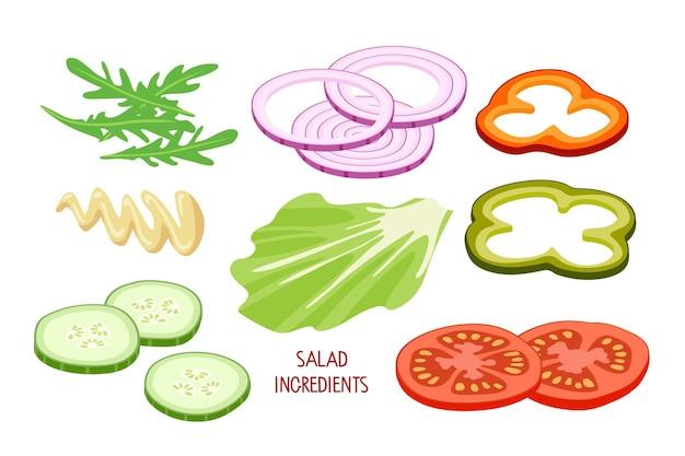 샐러드 재료 건강 식품 야채 채식주의 비타민 건강 영양 다이어트