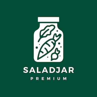 Salad jar logo