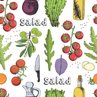 Salad seamless background