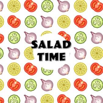Салат узор время