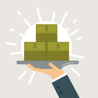 Salary on payday illustration.