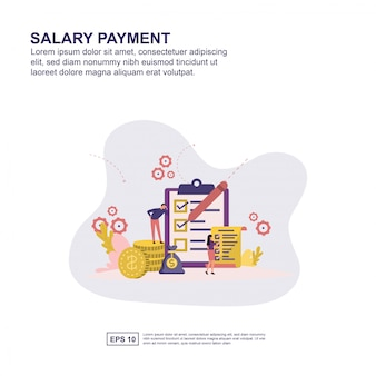 Salary payment concept