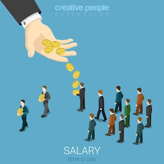 Salary wage business concept flat