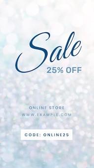 Sale 25 percent off advertisement