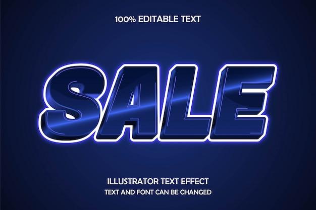 판매, 3d 편집 가능한 텍스트 효과 현대 네온 스타일