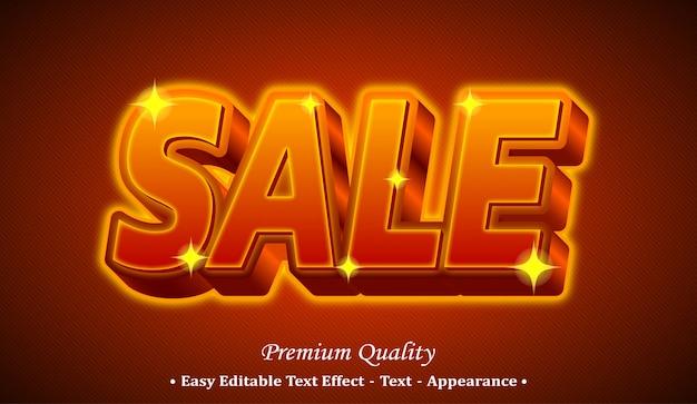 Sale 3d editable text style effect Premium Vector
