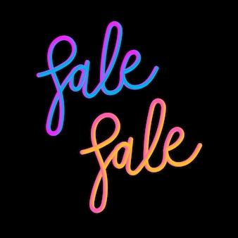 Sale 3d slogan