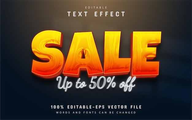 Sale 3d text effect editable