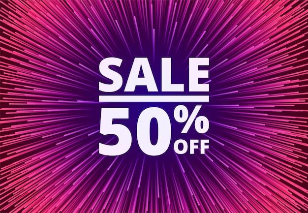 Sale 50 off discount purple