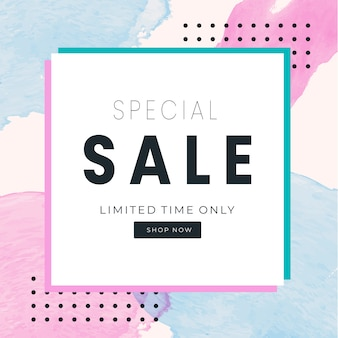 Sale abstract banner