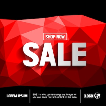 Sale abstract geometric background