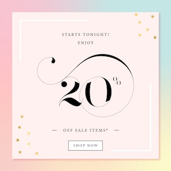 Sale ad banner template