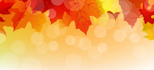 Sale autumn poster with leaves