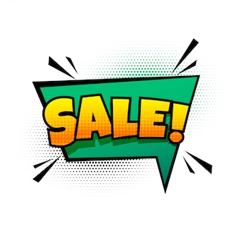 Sale background in comic chat bubble style