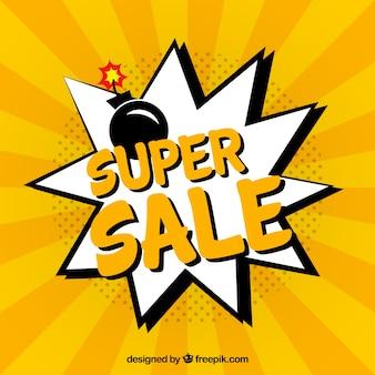 만화 스타일의 판매 배경