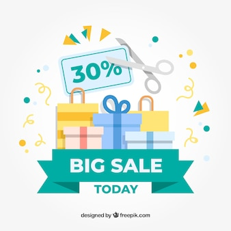 Sale background in flat style
