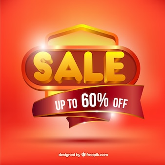 Sale background in realistic style