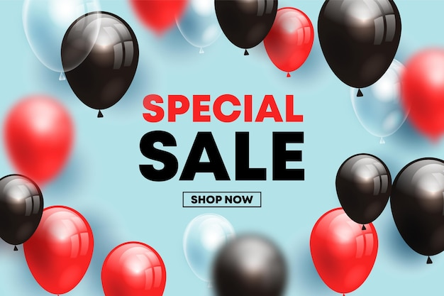 Продажа фона с концепцией воздушных шаров