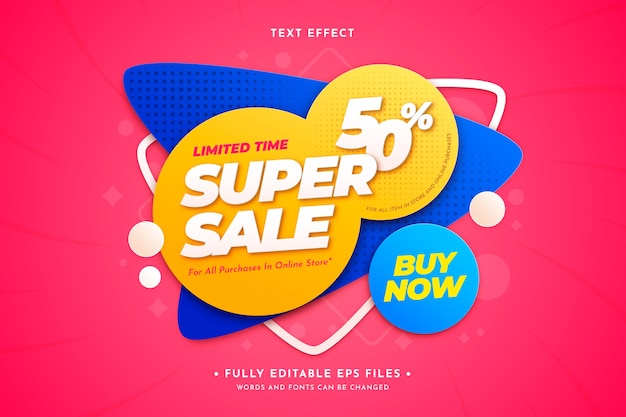 Sale background with text effect