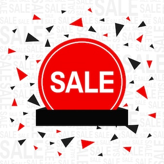 Sale background with triangles