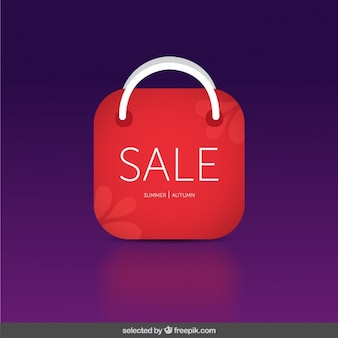 Sale badge with bag form