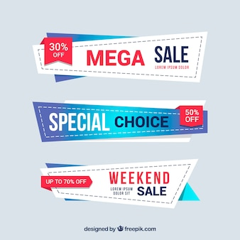 Sale badges collection in gradient colors