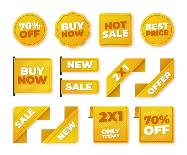 할인 판매 배지 컬렉션