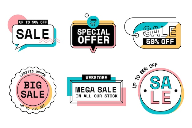 Sale badges collection