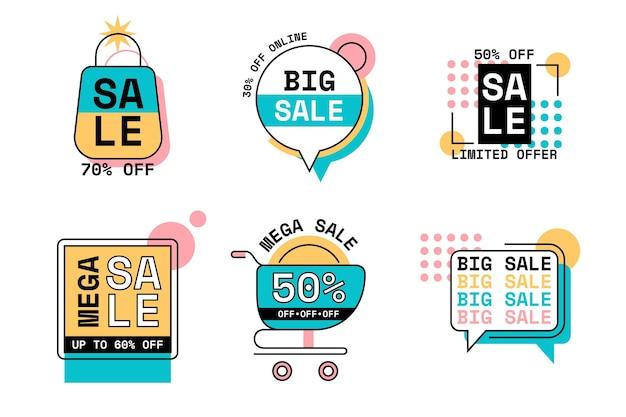 Collezione di distintivi di vendita