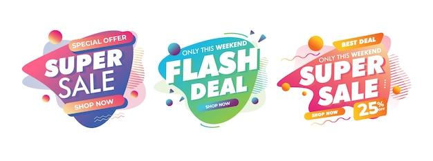 Sale badges for offline online shop promotion discount sign
