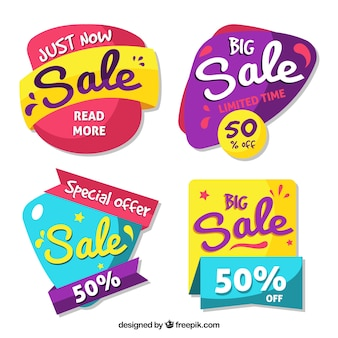 Sale badges with fun style