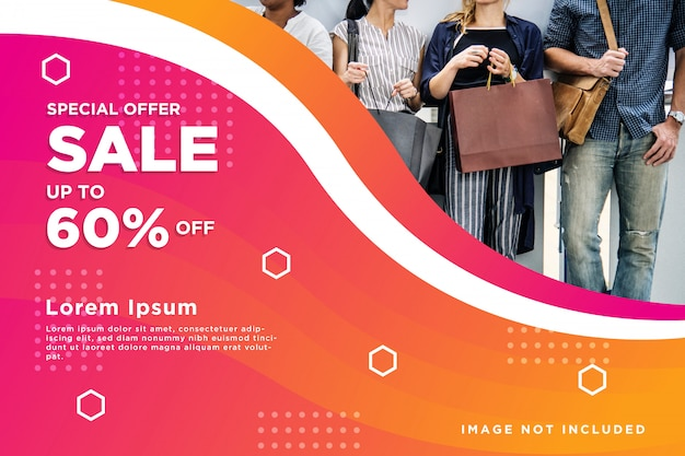 Sale banner abstract background