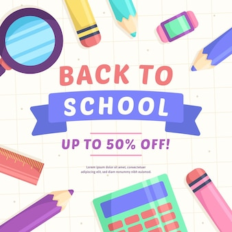 Sale banner for back to school