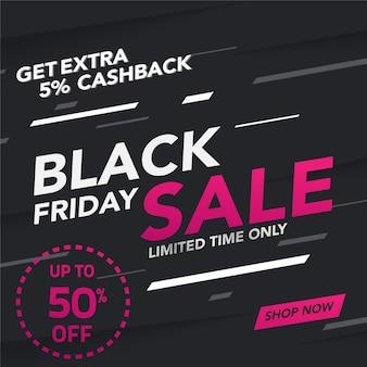 Sale banner black friday template design