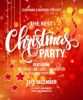 Sale banner christmas party poster template
