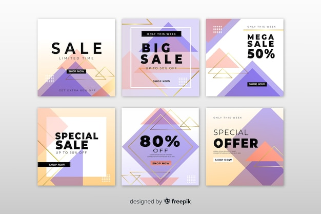 Продажа баннерной коллекции для социальных сетей