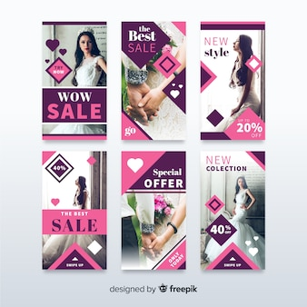 Sale banner collection for social media