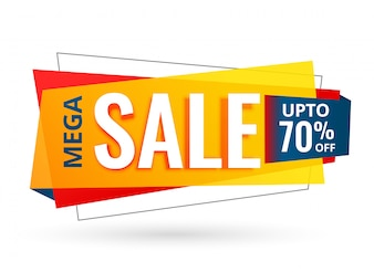 Sale banner design for business promotion