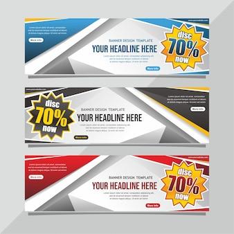 Sale banner design template