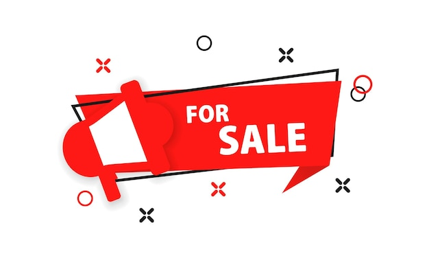 For sale banner. discount. vector eps 10. isolated on white background.